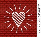 heart over wall of bricks... | Shutterstock .eps vector #545648698