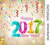 happy new year 2017 greeting... | Shutterstock .eps vector #545651242