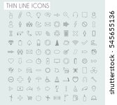 thin line icons illustration on ... | Shutterstock .eps vector #545655136