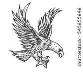 illustration of flying eagle...   Shutterstock .eps vector #545655646