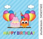 happy birthday card | Shutterstock .eps vector #545657602