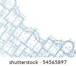 building background. plan of... | Shutterstock . vector #54565897