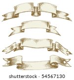 vintage scrolls set | Shutterstock .eps vector #54567130