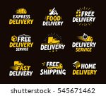 icons set shipping and delivery.... | Shutterstock .eps vector #545671462