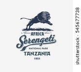 african lion  serengeti...   Shutterstock .eps vector #545677738
