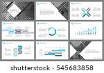 blue elements for infographics... | Shutterstock .eps vector #545683858