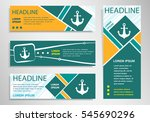 anchor icon on horizontal and... | Shutterstock .eps vector #545690296