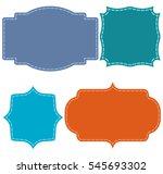 color vintage label set | Shutterstock .eps vector #545693302