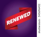 renewed arrow tag sign. | Shutterstock .eps vector #545696452