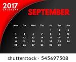 vector calendar for 2017. the... | Shutterstock .eps vector #545697508