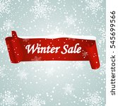 winter sale background with red ... | Shutterstock .eps vector #545699566