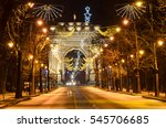 the arch of triumph  arcul de...   Shutterstock . vector #545706685