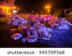 beautiful table setting at a... | Shutterstock . vector #545709568
