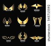 vector wings logo design... | Shutterstock .eps vector #545715592