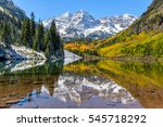 maroon bells and maroon lake  ...