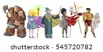great warriors and wizards role ... | Shutterstock .eps vector #545720782