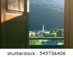 scenic landscape view of... | Shutterstock . vector #545736406