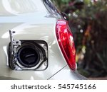 close up view opening car body... | Shutterstock . vector #545745166