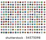 collection of all the flags of...   Shutterstock .eps vector #54575098