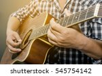 Acoustic Guitar Being Played ...