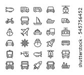 transport colored vector icons 4 | Shutterstock .eps vector #545756452