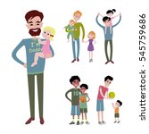 father and kids together... | Shutterstock .eps vector #545759686