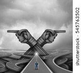 crossroads concept of choice... | Shutterstock . vector #545763502