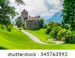 gutenberg castle in the... | Shutterstock . vector #545763592