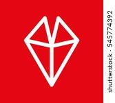 triangles logo  mark  mask   Shutterstock .eps vector #545774392