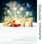 happy new year 2017 background... | Shutterstock .eps vector #545776432