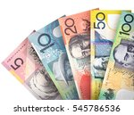money bills stacked like a fan... | Shutterstock . vector #545786536