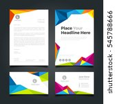business card and corporate... | Shutterstock .eps vector #545788666
