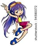 fashion girl   Shutterstock . vector #54580372