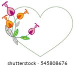 heart shaped frame with... | Shutterstock .eps vector #545808676