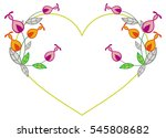 heart shaped frame with... | Shutterstock .eps vector #545808682