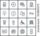 set of 16 transportation icons. ... | Shutterstock . vector #545809375