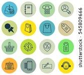 set of 16 e commerce icons.... | Shutterstock . vector #545809666