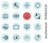 set of 16 business management... | Shutterstock . vector #545810125