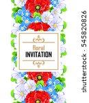 vintage delicate invitation... | Shutterstock .eps vector #545820826