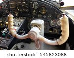 inside the cockpit of the old... | Shutterstock . vector #545823088