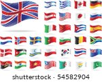 set of flags. all elements and... | Shutterstock .eps vector #54582904