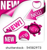 set of pink elements for new... | Shutterstock .eps vector #54582973