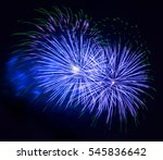 alluring colorful fireworks and ... | Shutterstock . vector #545836642