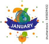 republic day of india  | Shutterstock .eps vector #545839432