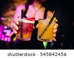 colourful cocktails in light... | Shutterstock . vector #545842456