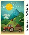 illustration of a rural... | Shutterstock .eps vector #545844946