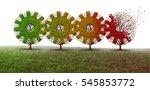 business decline concept as a... | Shutterstock . vector #545853772