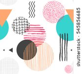 geometric seamless pattern with ... | Shutterstock .eps vector #545856685
