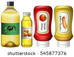 different types of sauces and... | Shutterstock .eps vector #545877376