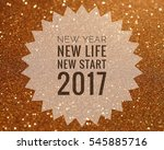 happy new year 2017 words on... | Shutterstock . vector #545885716